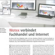 Bild Pressebericht BTH über Wotex Onlinekit