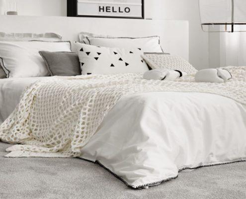 Bild Teppichboden weiß im Schlafzimmer