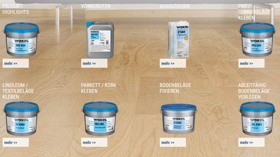 Bild Wakol Produkte