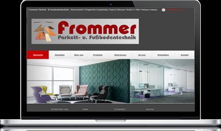 Bild Laptop mit WOTEX - Onlinekit Homepage