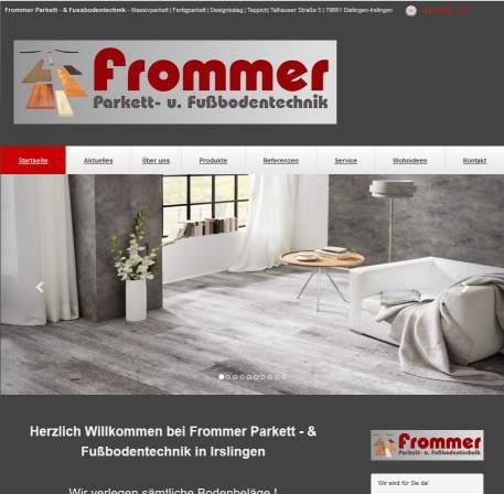 Bild Startseite Frommer WOTEX Onlinekit