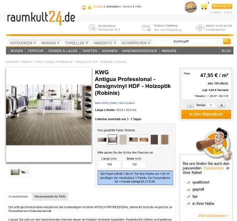 Bild Onlinkauf bei raumkult24.de